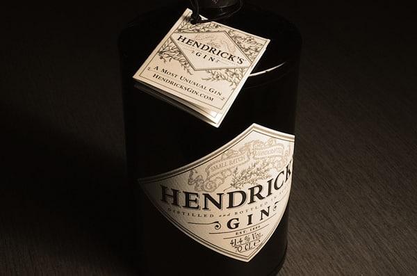 Garrafa do Gin Hendrick's