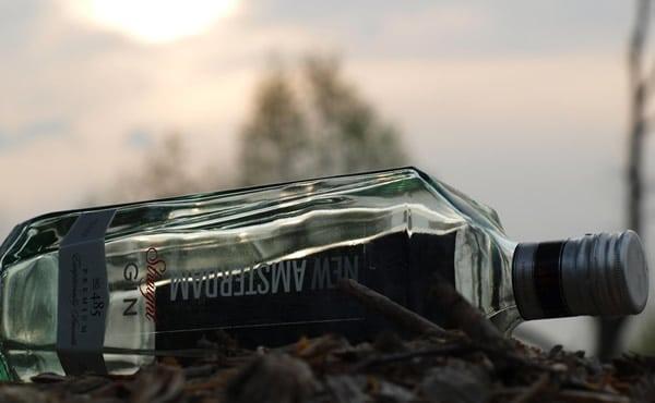 Garrafa do Gin Amsterdan