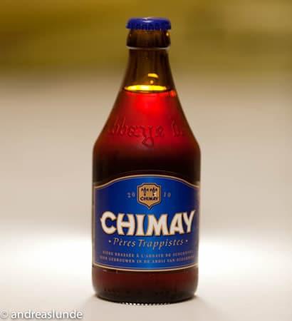 Garrafa da cerveja Chimay Blue