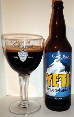 Garrafa da cerveja Great Divide Yeti Imperial Stout