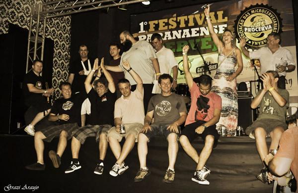 Mestres cervejeiros reunidos no evento Procerva