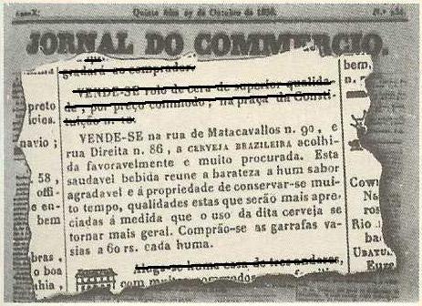 Nota sobre cerveja no Jornal Comercio