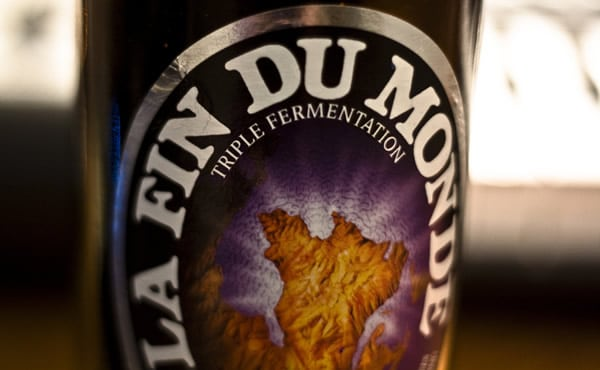 Rótulo da cerveja La Fin du Monde