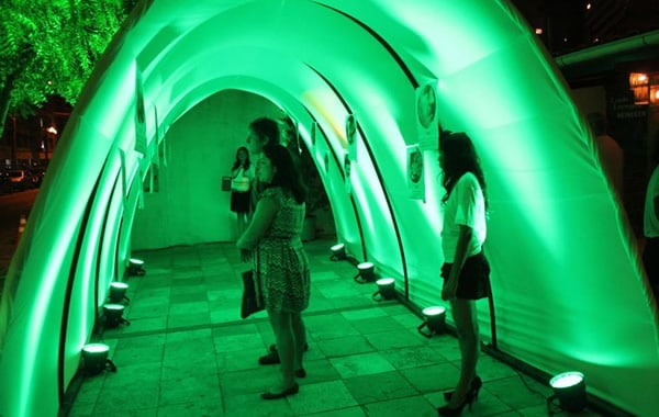 Túnel do tempo da Heineken