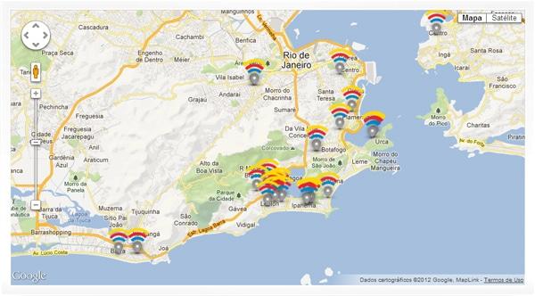 Mapa do Brasil Free WiFi
