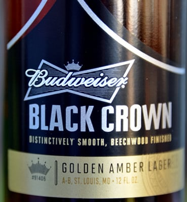 Garrafa da cerveja Black Crown