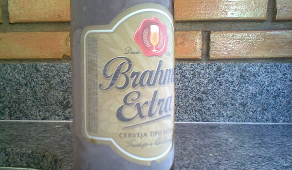 Garrafa da cerveja Brahma Extra