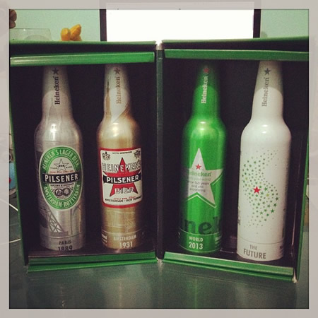 Garrafas de Heineken