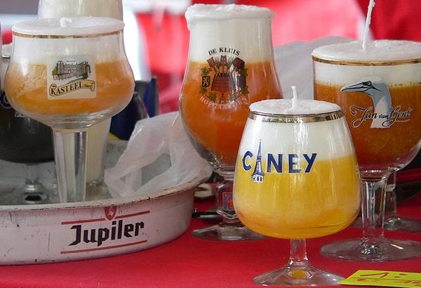 Copos de cervejas belgas