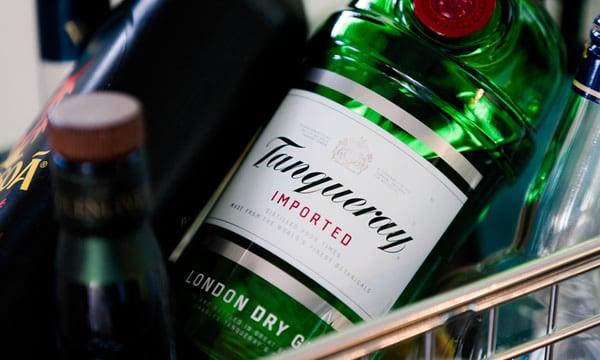 Garrafa do Gin Tanqueray