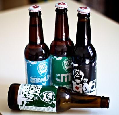 Garrafas da cervejaria Brew Dog