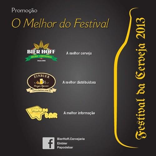 Flyer da promoção O melhor do festival