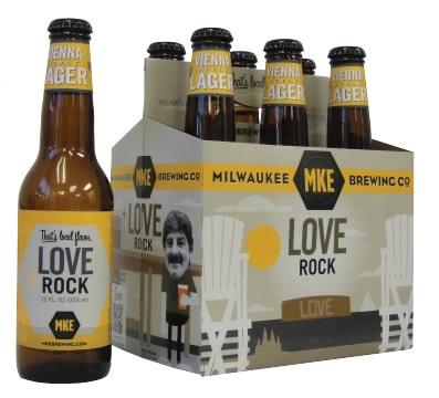 Garrafa e caixa da cerveja Love Rock