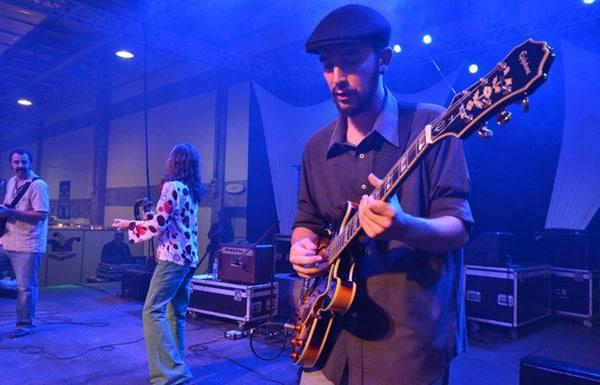 Música rolando no Festival
