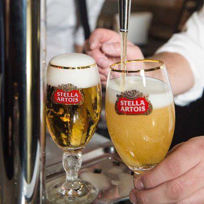 Taças da cerveja Stella Artois