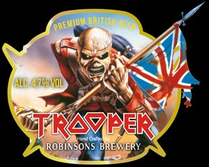 Rótulo da cerveja Trooper, do Iron Maiden