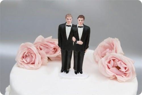 Bolo de um Casamento Gay