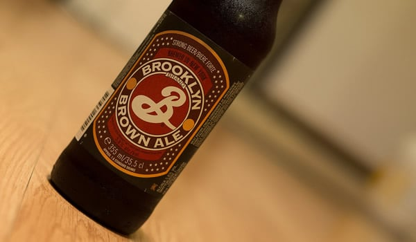 Garrafa da cerveja Brooklyn Brown Ale