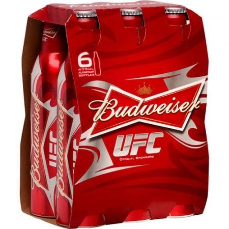 Garrafas da Budweiser UFC