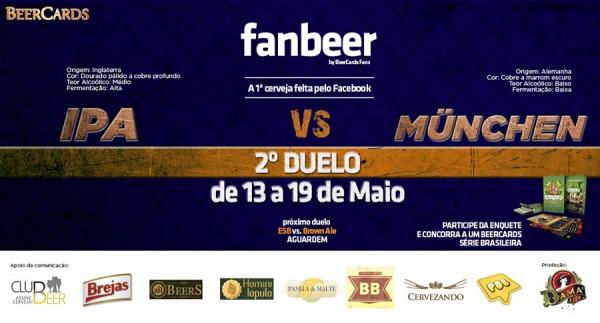 Arte do duelo de  estilo de cerveja da FanBeer, a cerveja do BeerCards