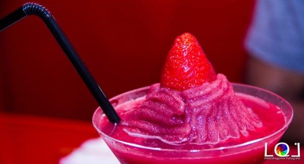 Frozen Sake de frutas vermelhas