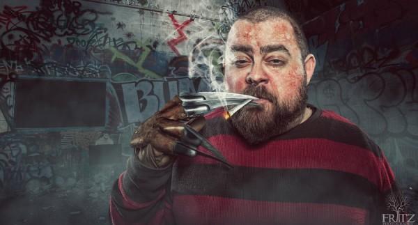 Homem fumando maconha