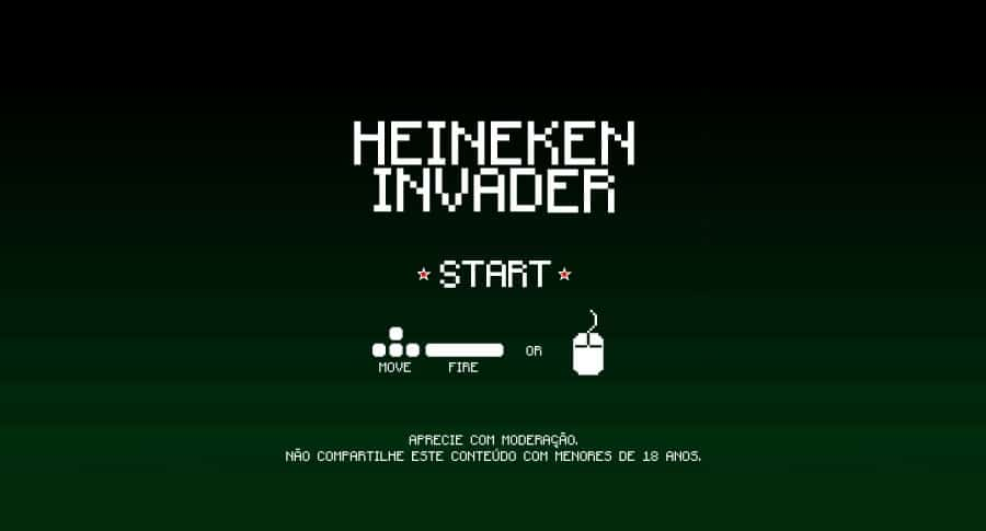 Tela do Heineken Invader