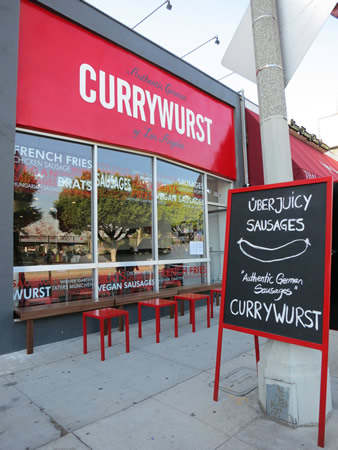 Restaurante que vende Currywurst