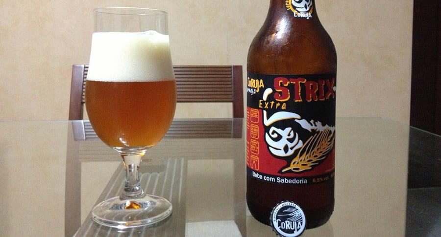 Garrafa da cerveja Coruja Strix Extra