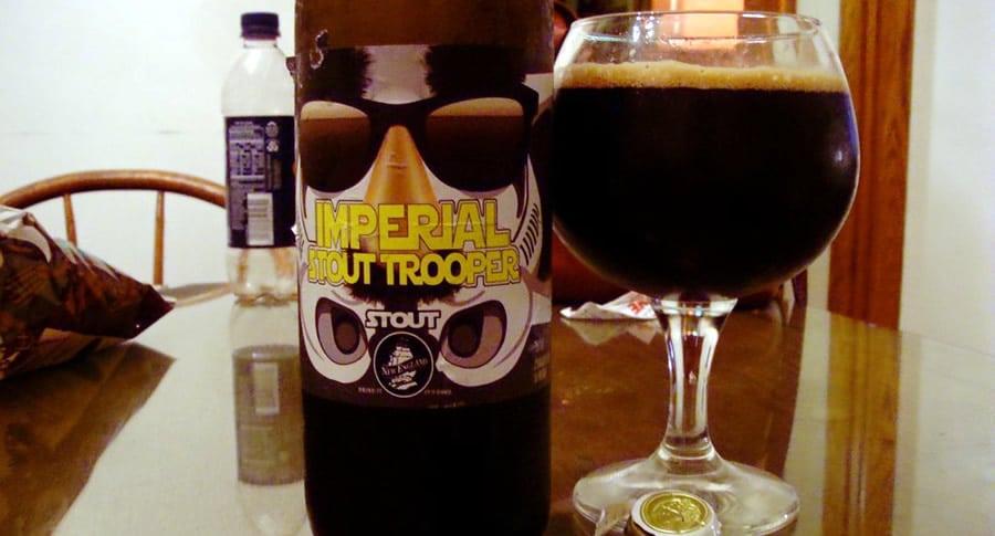 Garrafa da cerveja Imperial Stout Trooper