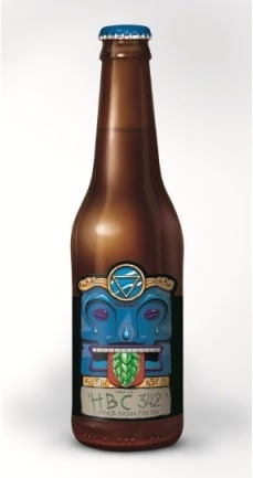 Garrafa da cerveja Dama HBC 342