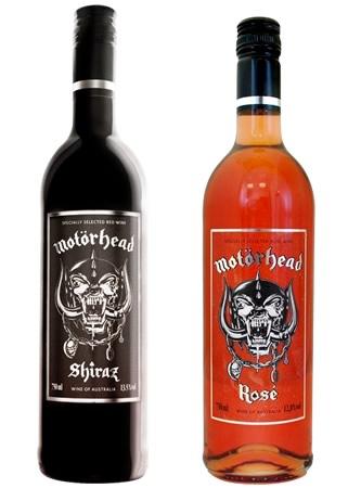 Garrafa de vinho da banda Motorhead