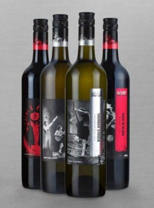 Garrafa de vinho da banda AC/DC