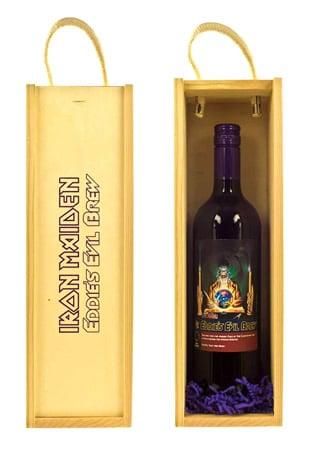 Garrafa de vinho da banda Iron Maiden