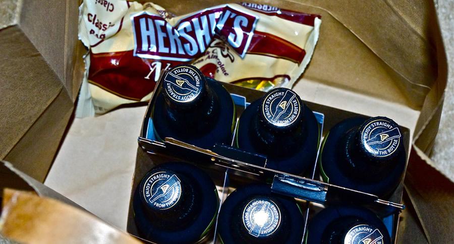 Garrafas de cerveja de chocolate