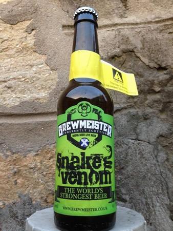 Garrafa da cerveja Snake Venom