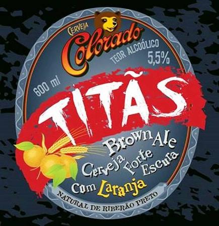 Rótulo da cerveja Colorado Titãs