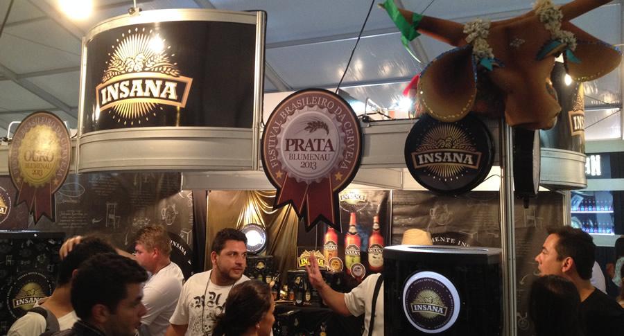 Stand da Cervejaria Insana no Mondial de La Bière 2013