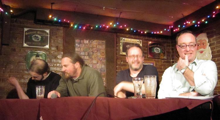 Mesa de bar com cerveja e humor