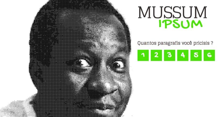 Tela do Mussum Ipsum, Mussum no DOE de Alagoas