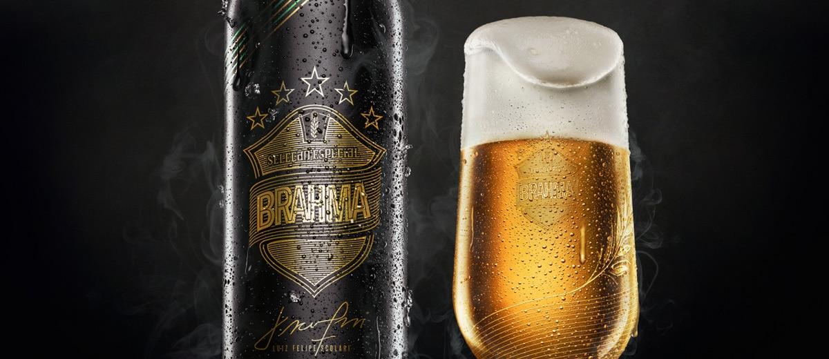 Garrafa e copo da nova Brahma