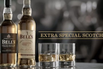 Garrafas do whisky Bell's