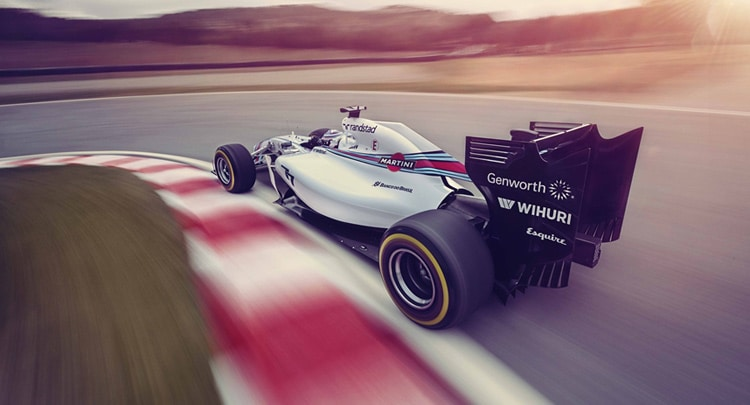 Carro da equipe Williams Martini Racing