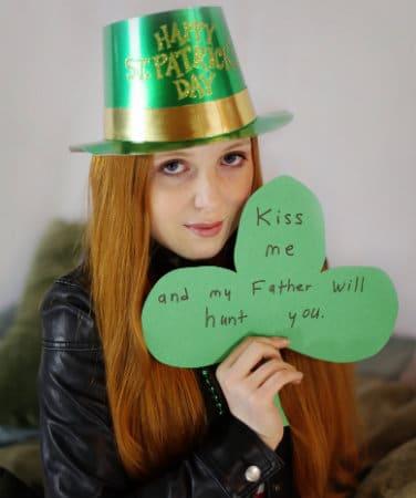 Irlandesa no Saint Patrick's Day