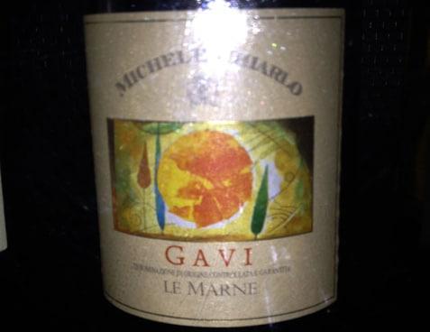 Garrafa do vinho Gavi