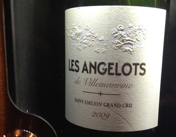 Garrafa do vinho Les Angelots