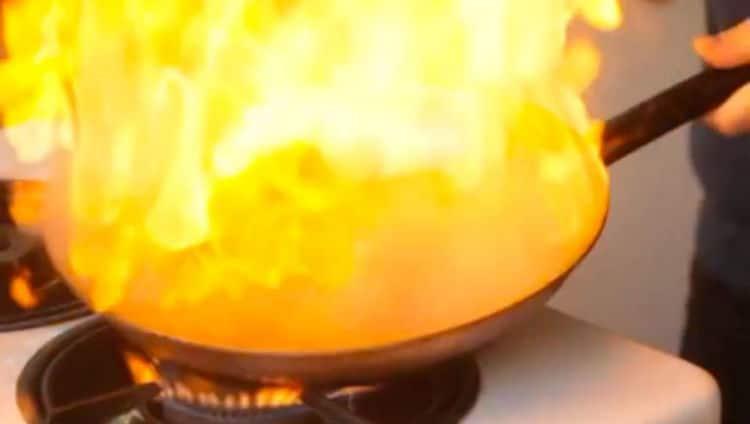 Panela pra fazer o filé mignon flambado no conhaque