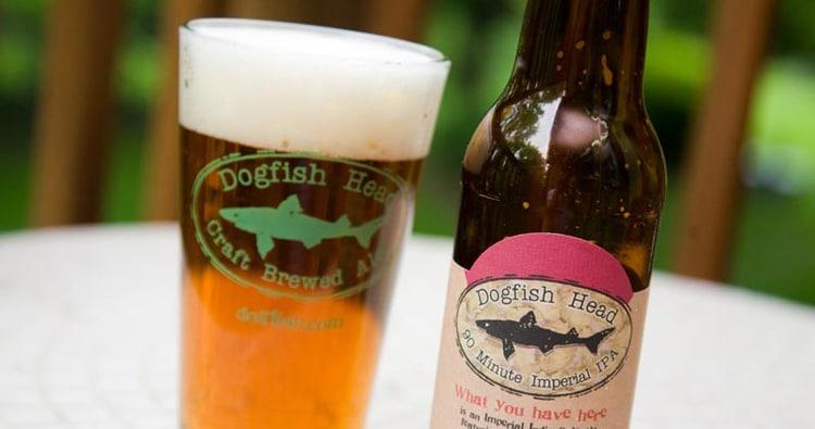 Garrafa da cerveja Dogfish