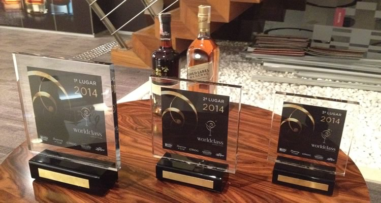 Troféus do Diageo World Class Competition