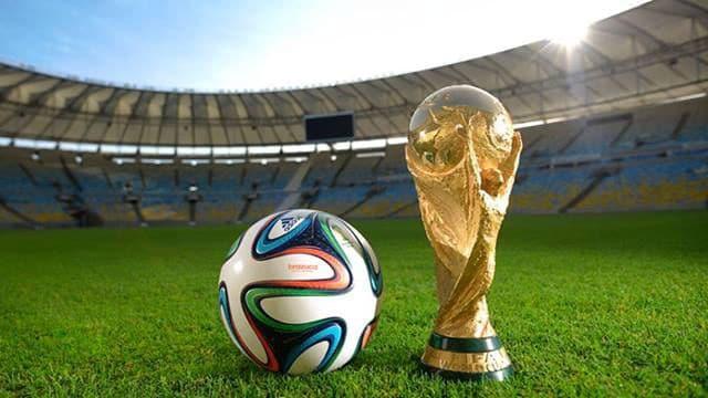 Bola e taça da Copa